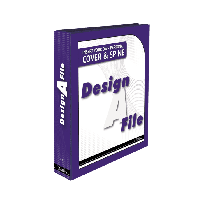 Treeline Design A File A4 40mm Lever Arch File Blue Box-10