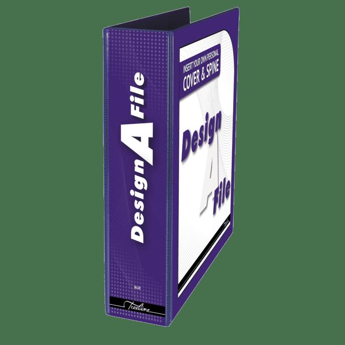 Treeline Design A File A4 70mm Lever Arch File Blue Box-10