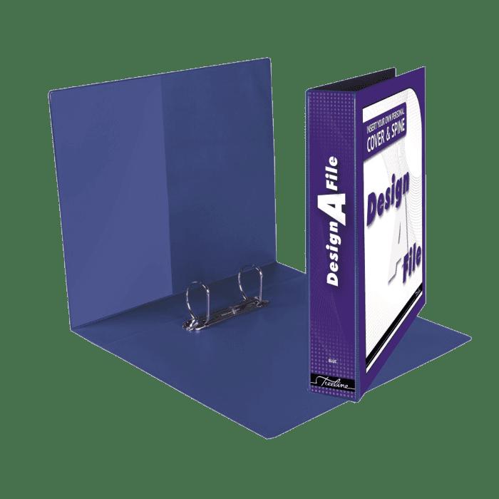 Treeline Design A File A4 2 D Ring 40mm Blue Box-10