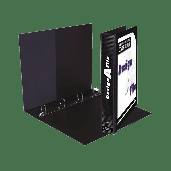 Treeline Design A File A4 4 D Ring 25mm Black Box-10