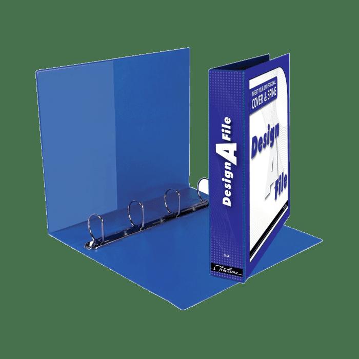 Treeline Design A File A4 4 D Ring 40mm Black Box-10