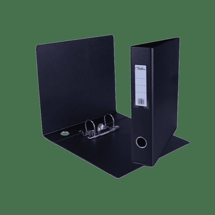 Treeline A4 Mini Lever Arch File PVC Box-10 Black