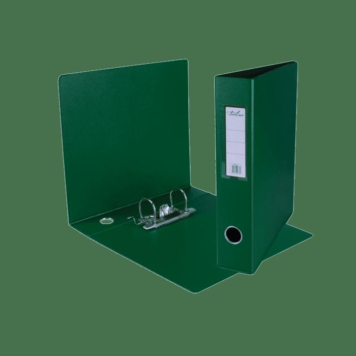 Treeline A4 Mini Lever Arch File PVC Box-10 Green