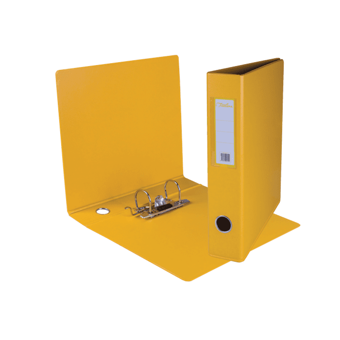 Treeline A4 Mini Lever Arch File PVC Box-10 Yellow