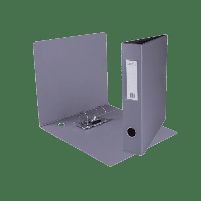 Treeline A4 Mini Lever Arch File PVC Box-10 Grey