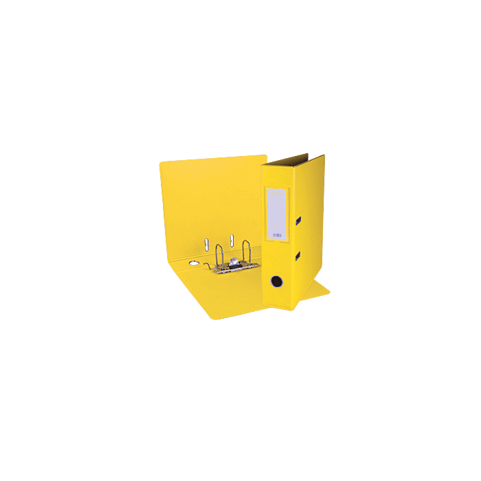 Treeline A4 Lever Arch File PVC Box-10 Yellow