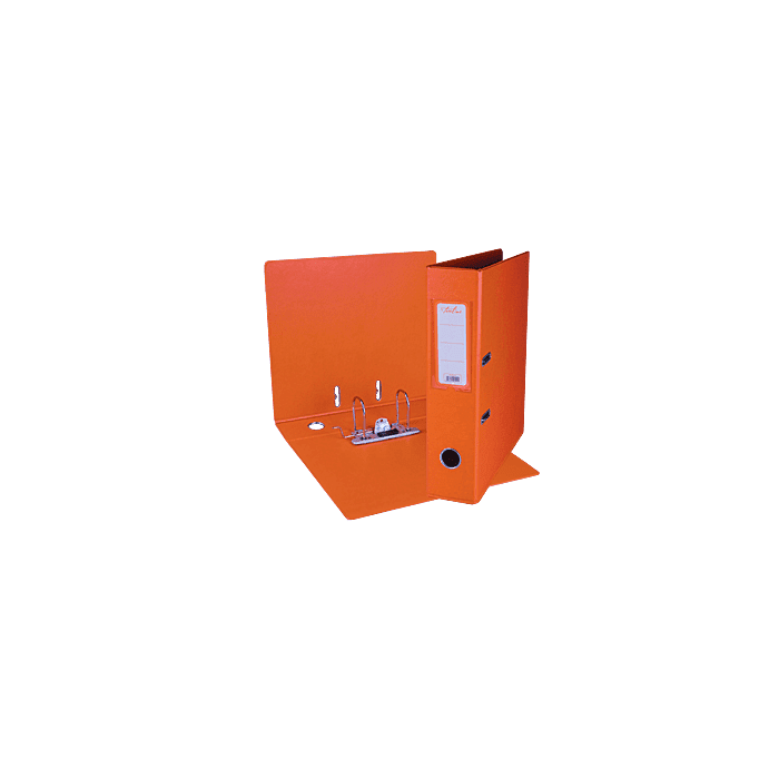 Treeline A4 Lever Arch File PVC Box-10 Orange