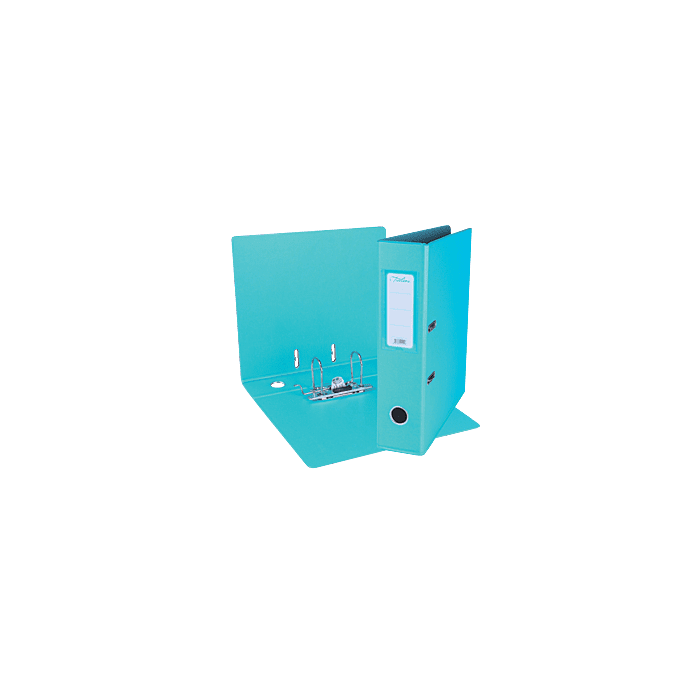 Treeline A4 Lever Arch File PVC Box-10 Turquoise