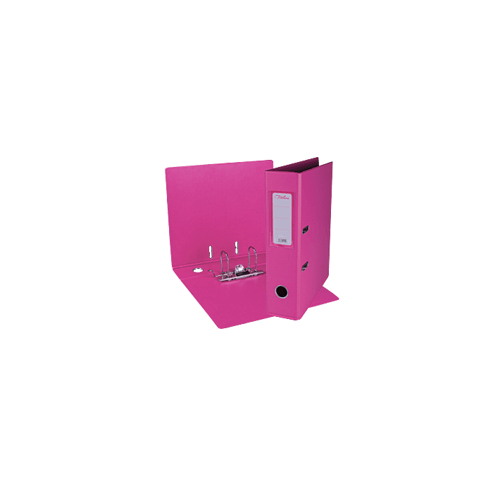 Treeline A4 Lever Arch File PVC Box-10 Hot Pink