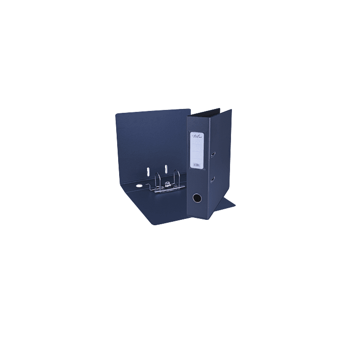 Treeline A4 Lever Arch File PVC Box-10 Navy Blue