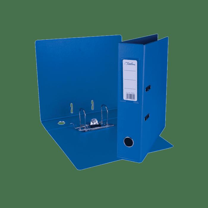 Treeline A4 Lever Arch File PVC Box-10 Cobalt Blue