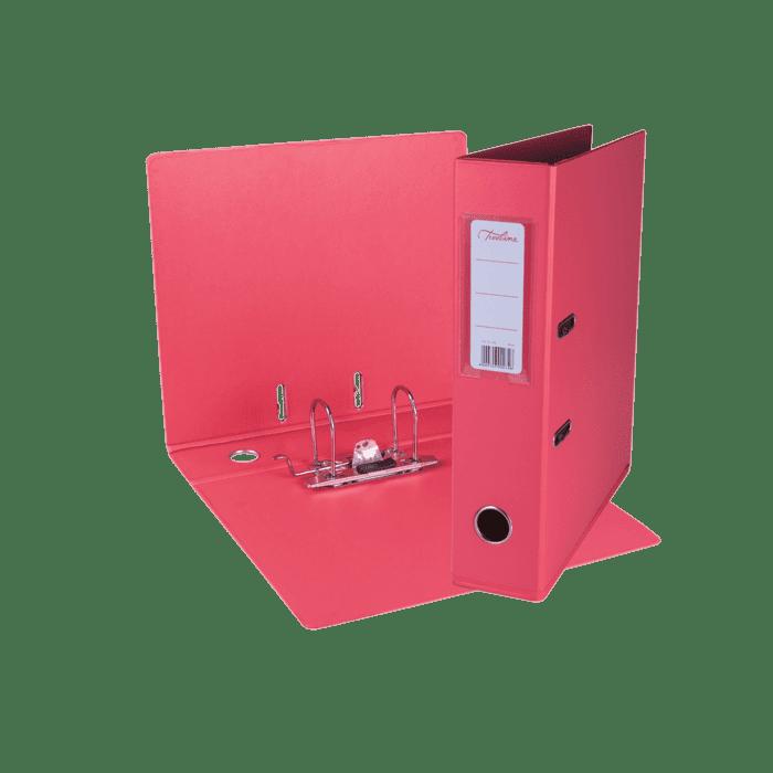Treeline A4 Lever Arch File PVC Box-10 Coral