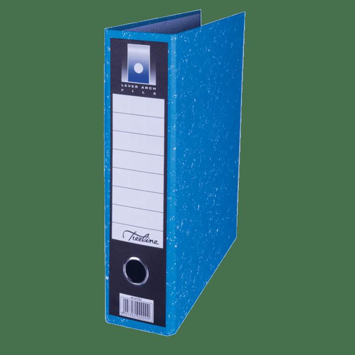 Treeline A4 Upright Lever Arch File Blue Pkt-6