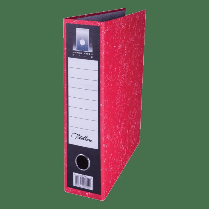 Treeline A4 Upright Lever Arch File Red Pkt-6