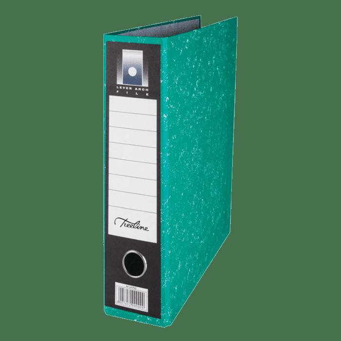 Treeline A4 Upright Lever Arch File Green Pkt-6