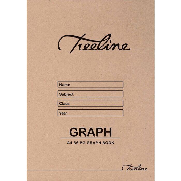 Treeline A4 Graph Book 36 pg Pkt-25