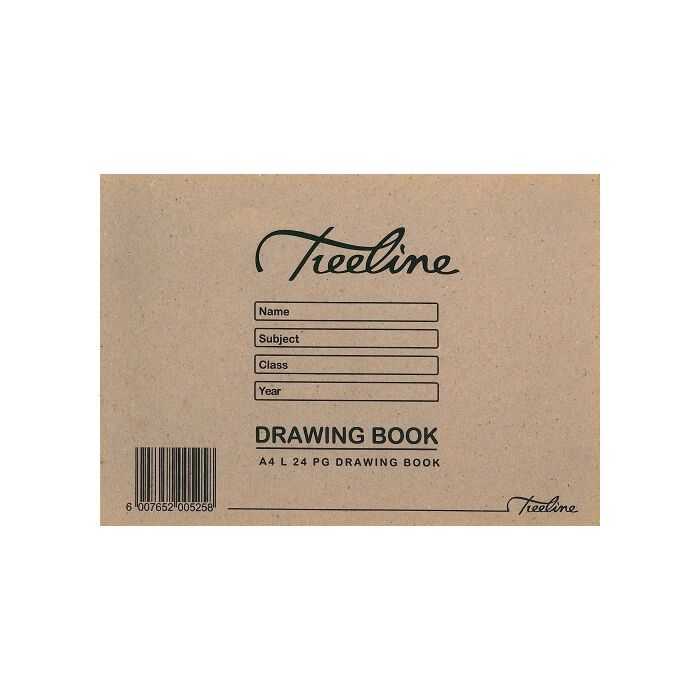 Treeline A4 Landscape Drawing Book 24 pg Soft Cover Pkt-25