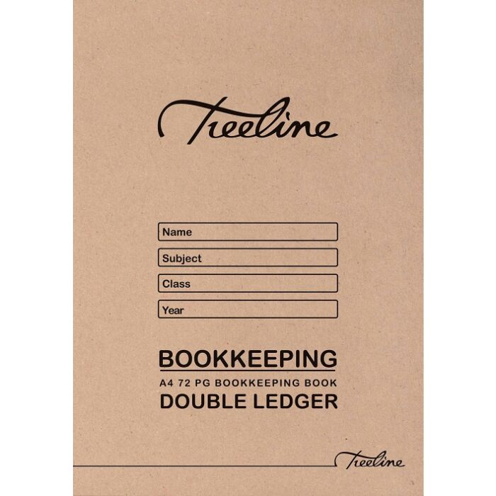 Treeline A4 72 pg Double Ledger Soft Cover