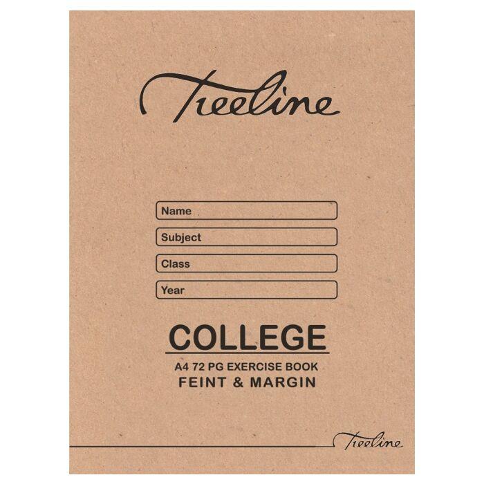 Treeline A4 72 pg Quad & Margin