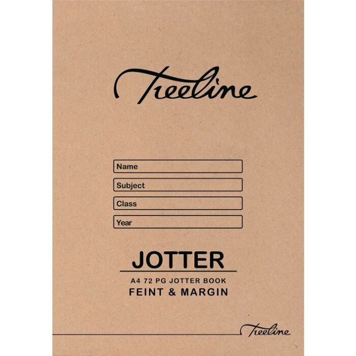 Treeline A4 72pg Jotter Scribbling Book Feint & Margin Pkt-20