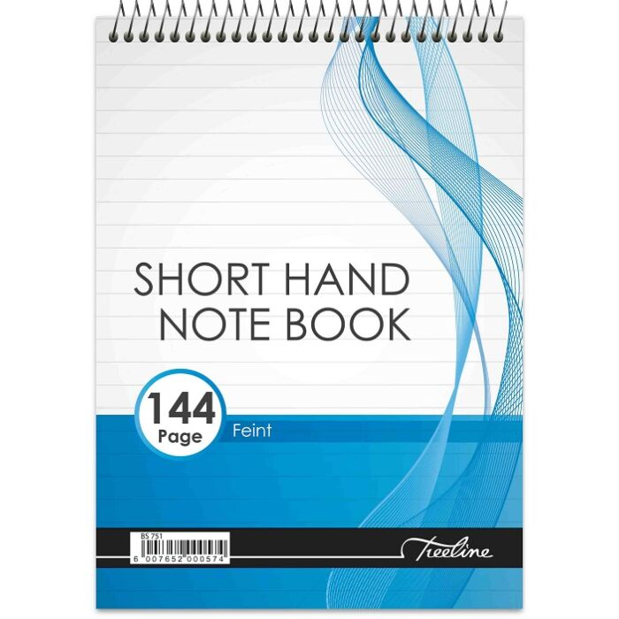 Treeline Short Hand A5 Top Bound 144 pg Feint Note Book
