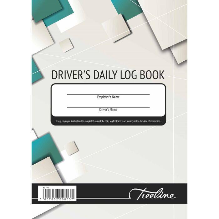 Treeline A5 Driver Log Book Hard Cover 100 Duplicate Sets Pkt-5