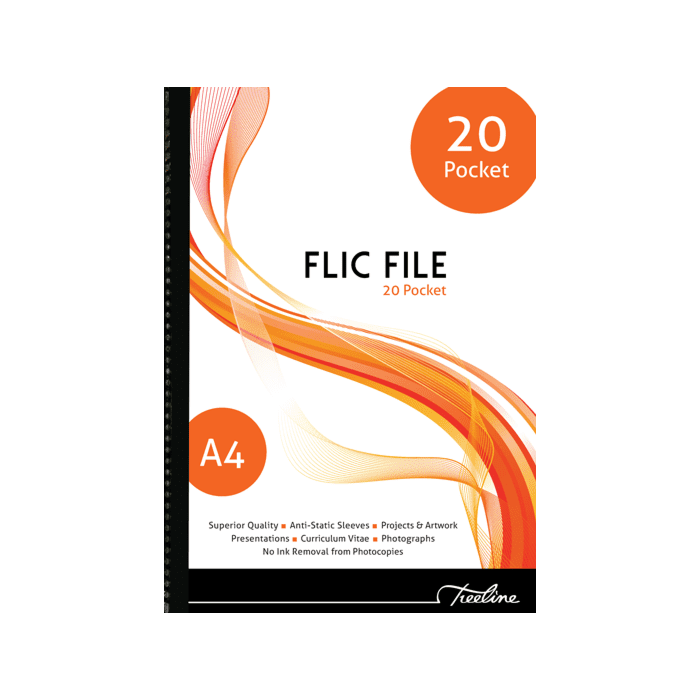 Treeline Flic File 20 Pocket File