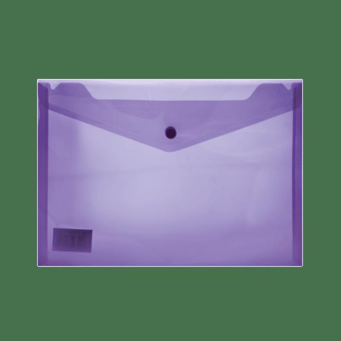 Treeline A4 PVC Carry Folder with Stud Pkt-12 Purple