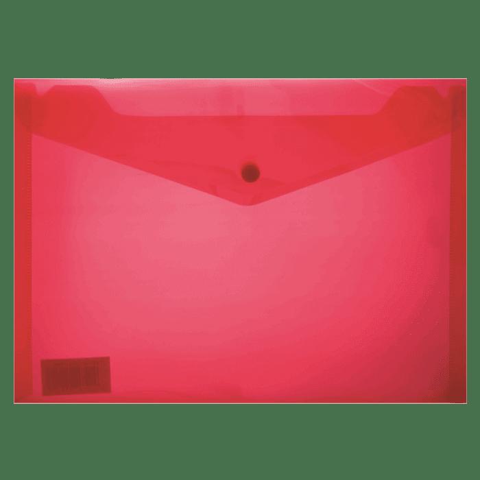 Treeline A5 PVC Carry Folder with Stud Pkt-12 Red