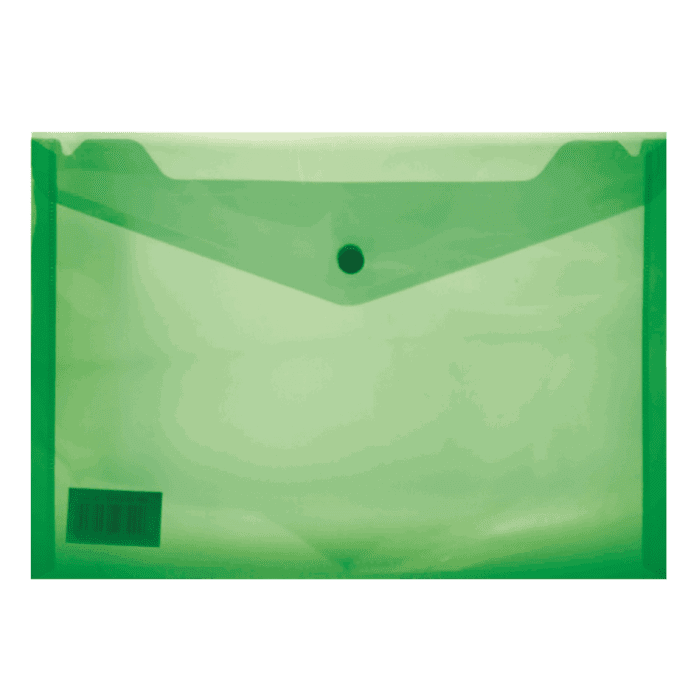 Treeline A5 PVC Carry Folder with Stud Pkt-12 Green
