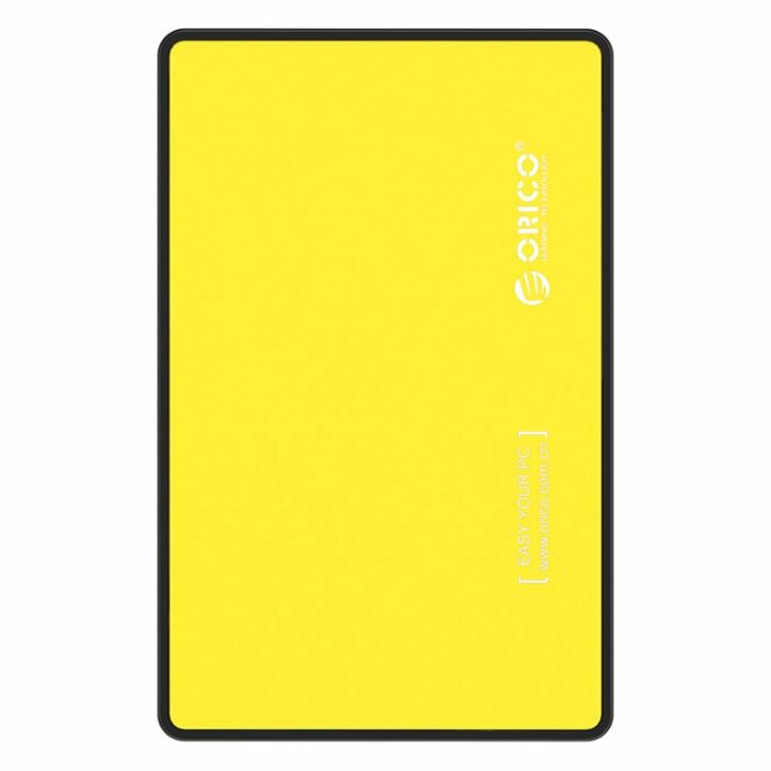 Orico 2.5 USB3.0 External HDD Enclosure - Yellow