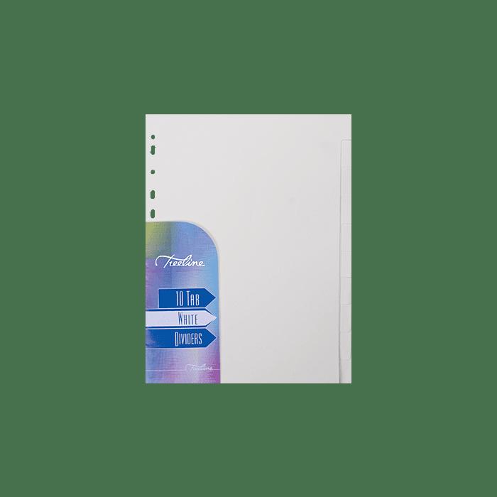 Treeline A4 10 Tab Board Divider White Pkt-10