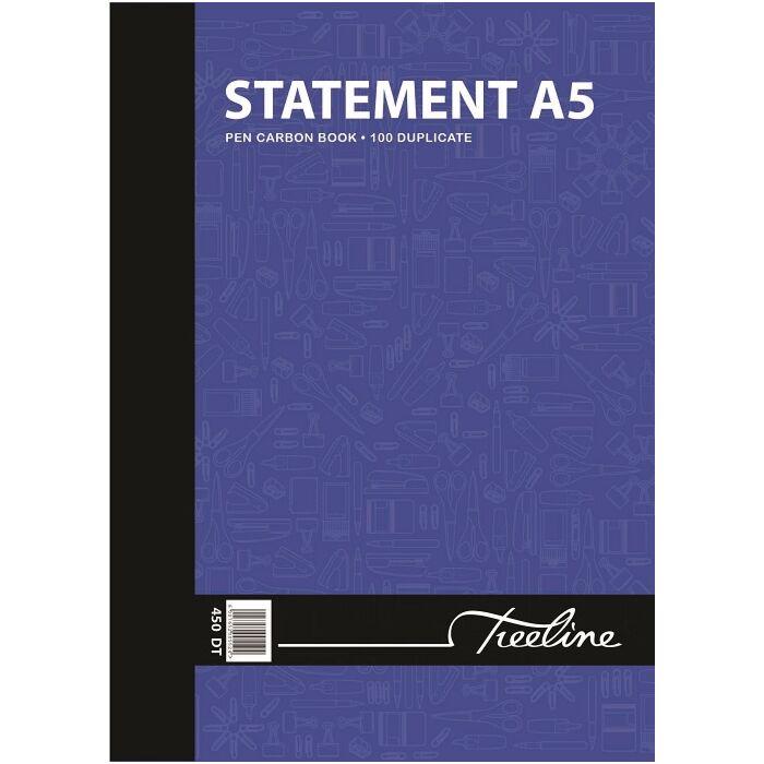 Treeline A5 Statement Duplicate 100 pg