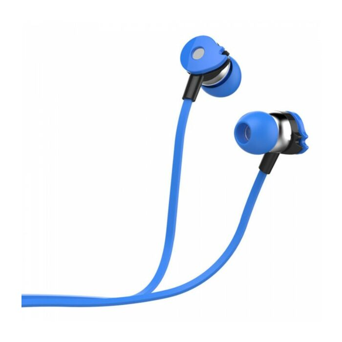 Astrum EB280 Wired Stereo Earphones + In-line Mic Blue