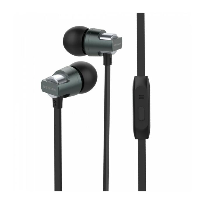 Astrum EB410 Wired Stereo Earphones + In-line Mic Black