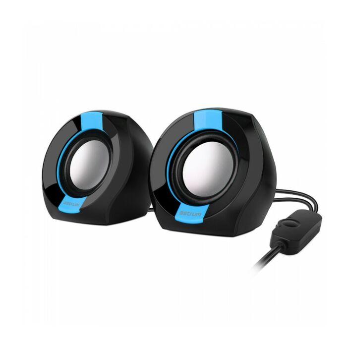 Astrum SU105 2.0 CH USB 3.5MM Multimedia Speakers 2 x3W RMS Blue