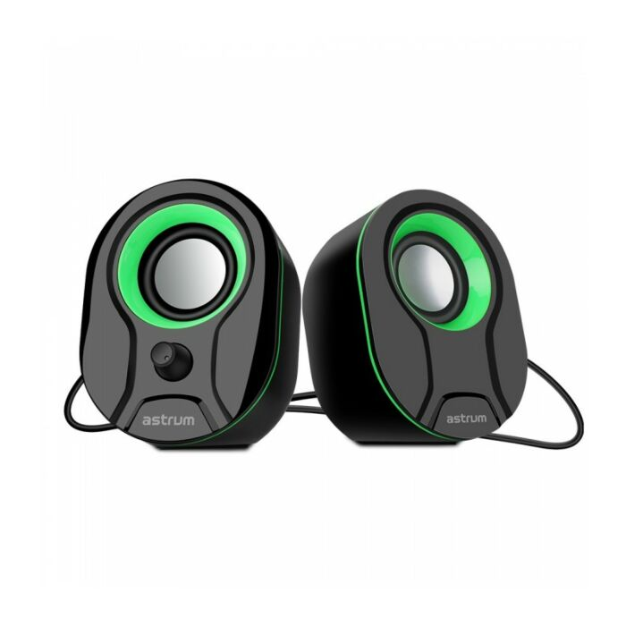 Astrum SU115 2.0 CH USB 3.5MM Multimedia Speakers 3W*2 RMS Green