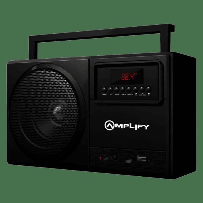 Amplify Tuner Series Bluetooth Speaker with Radio Black