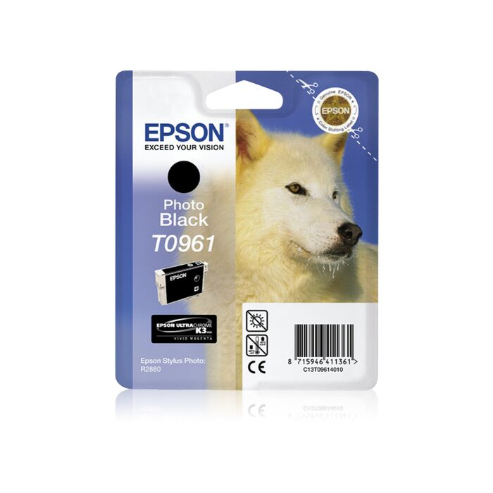 Epson - Ink - T0961 - Photo Black - Retail Pack - Stylus R2880