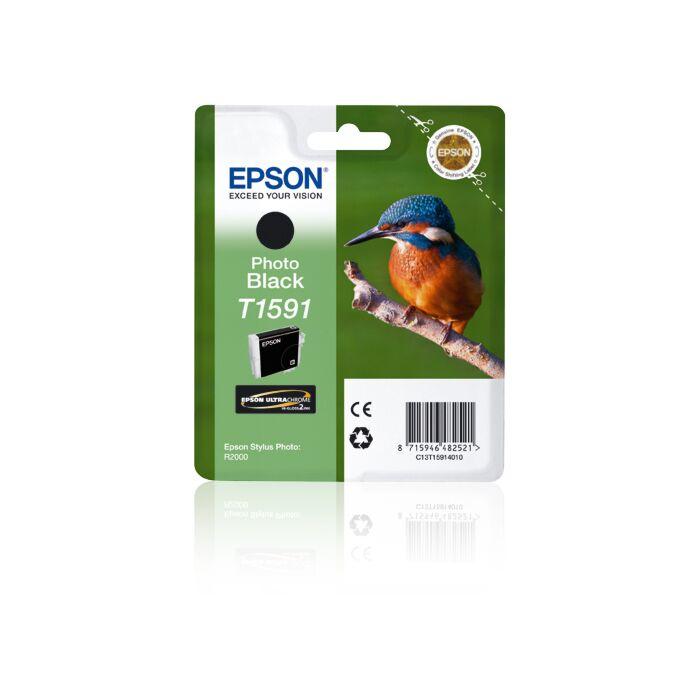 Epson - Ink - T1591 - Photo Black - Kingfisher - Sp R2000