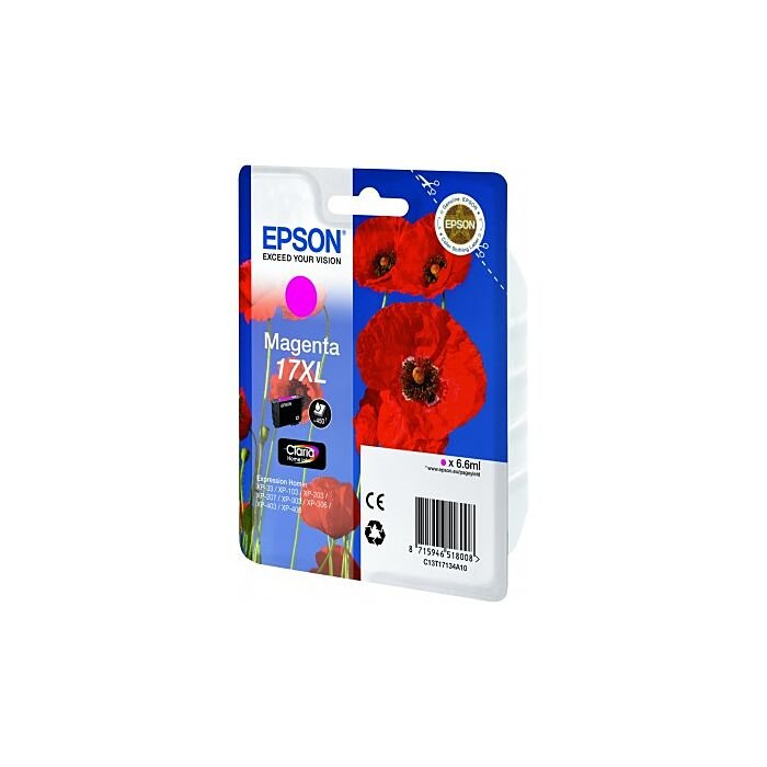 Epson - Ink - 17XL Series - Magenta - Poppy Claria Home Ink