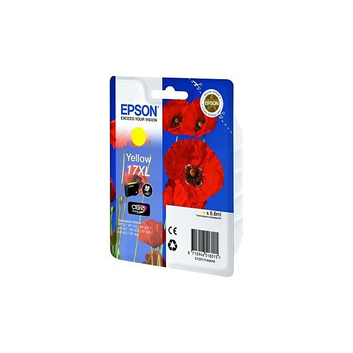 Epson - Ink - 17XL Series - Yellow - Poppy Claria Home Ink
