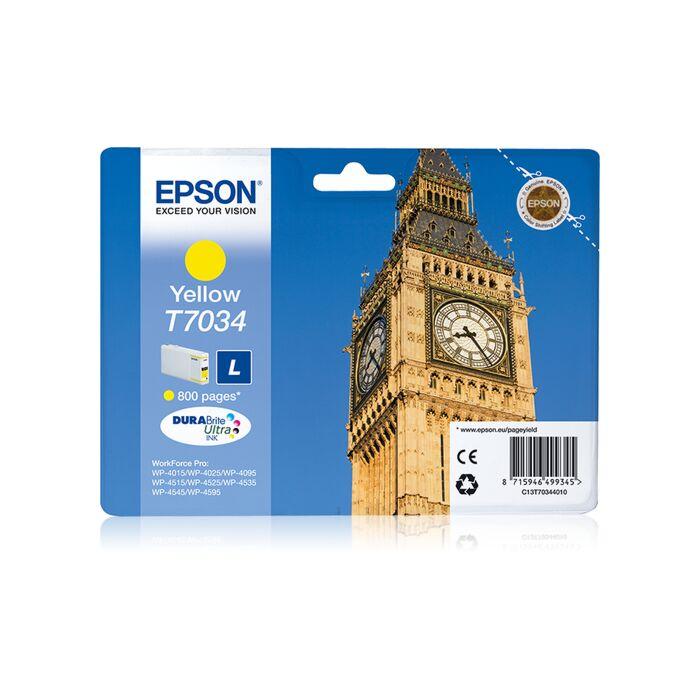 Epson - Ink - T7034- Yellow- Big Ben - Wp4000/4500