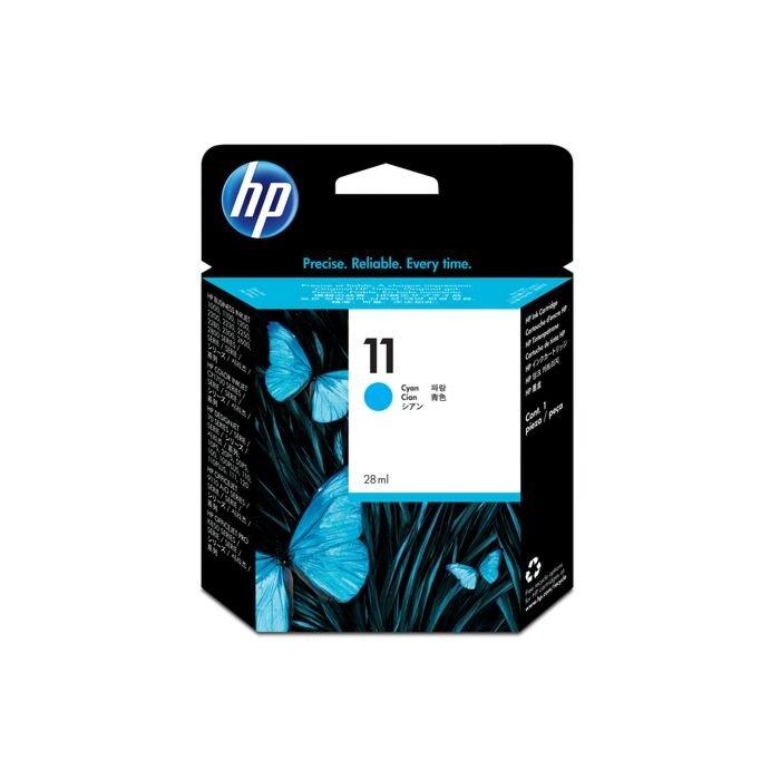 HP 11 Cyan Inkjet Print Cartridge (28 ML) - Business Inkjet 2200 / 2250 / 2250Tn / 2600 / Color Inkjet Cp 1700