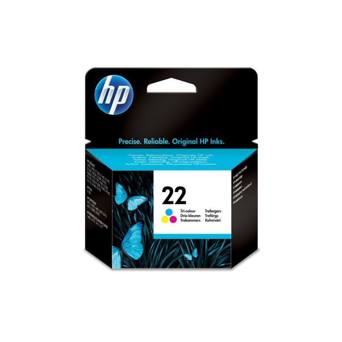 HP 22 Tri-Colour Inkjet Print Cartridge (5ML)