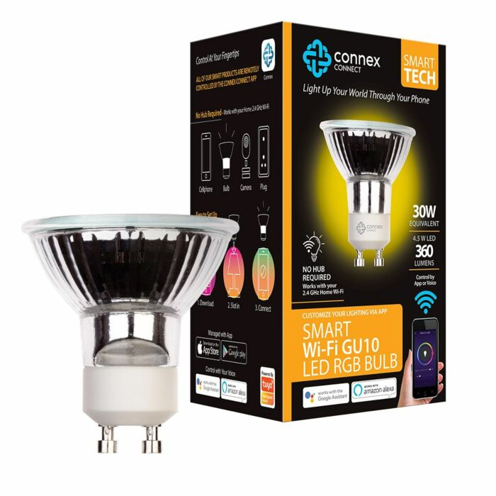 Connex Smart Wi-Fi 4.5W LED Bulb GU10