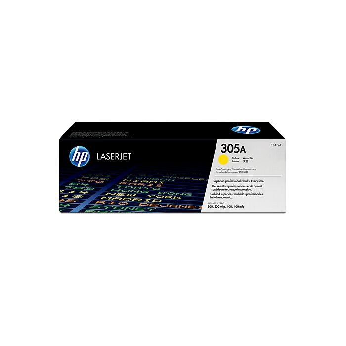 HP 305A Yellow Laserjet Toner Cartridge For Laserjet Pro 300 And 400 Color Series
