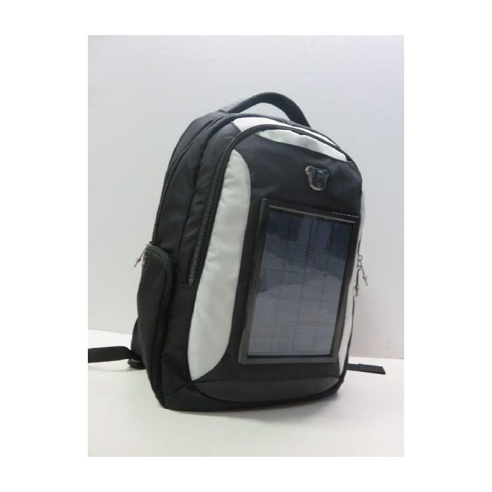 Swiss Digital Black and Grey Solar Backpack