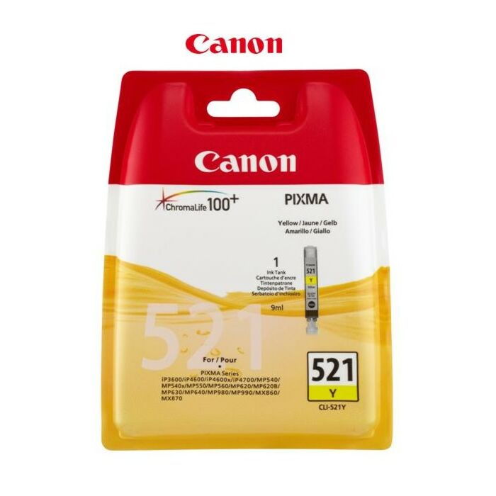Canon - Ink Yellow - Ip3600 Ip4600 Ip4700 Mp540 Mp550 Mp560 Mp620 Mp630 Mp640 Mp980 Mp990 Mx860 Mx870