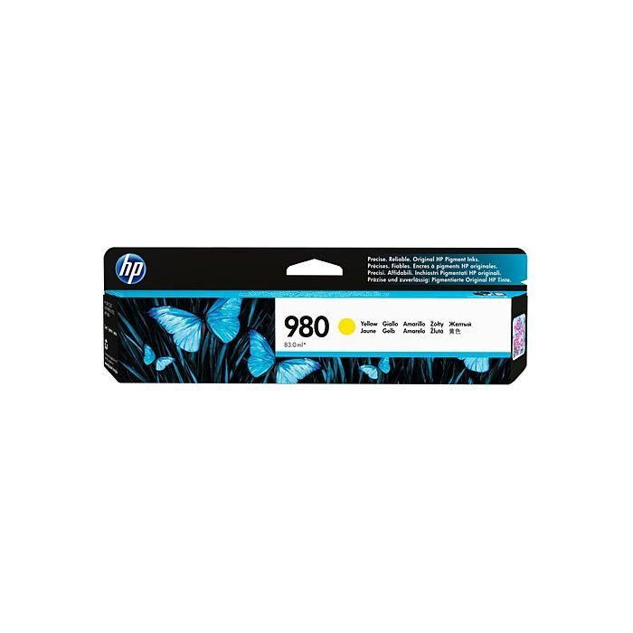 HP 980 Yellow Officejet Enterprise X555/X585 Ink Cartridge